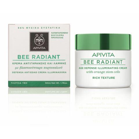 APIVITA BEE RADIANT Bőrfiatalító és ragyogást fokozó arckrém RICH 50 ml