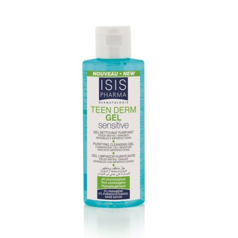 Isis Pharma Teen Derm Gel Sensitive Tisztító gél 100ml