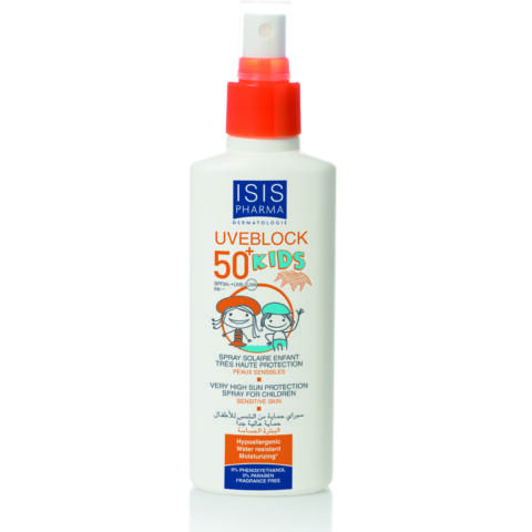 Isis Pharma Uveblock Kids SPF50+ Gyermek fényvédő spray 150ml
