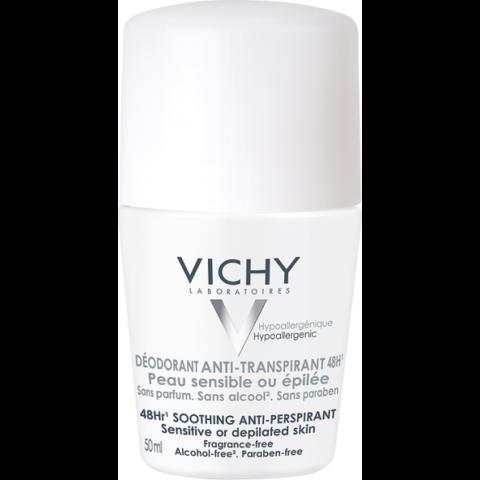 Vichy izzadságszabályozó golyós dezodor érzékeny vagy epilált bőrre 50 ml