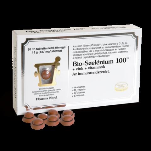 Pharma Nord Bio-Szelénium 100TM+cink+vitaminok tabletta  60X