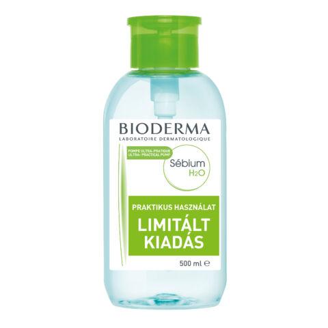 Bioderma Sébium H2O arc- és sminklemosó 500ml PUMPÁS KISZERELÉSBEN