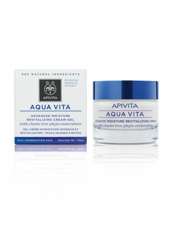 APIVITA AQUA VITA Hidratáló arckrém zsíros/kombinált bőrre 50 ml