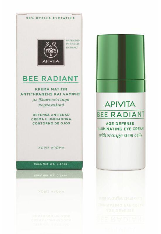APIVITA BEE RADIANT Bőrfiatalító és ragyogást fokozó szemránckrém 15 ml