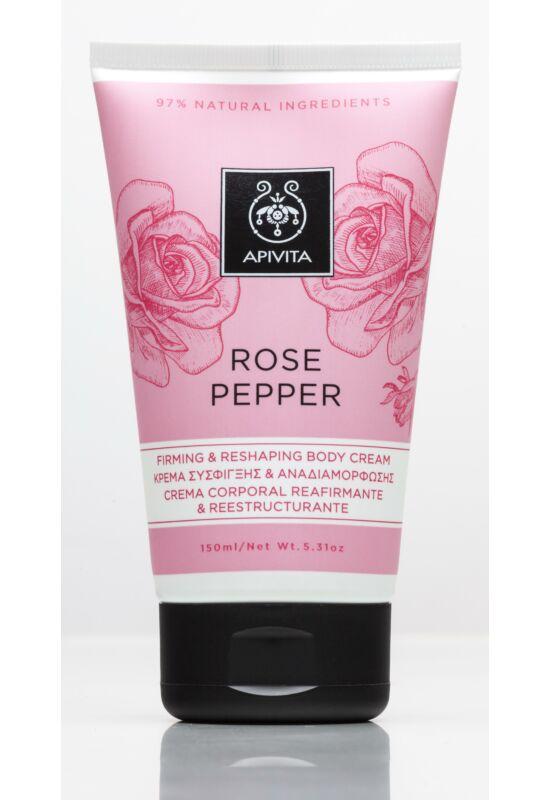 APIVITA Feszesítő és alakformáló testápoló krém rózsával & borssal 150 ml
