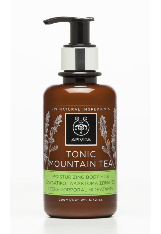 APIVITA Testápoló tej pezsdítő hegyi teával 200 ml