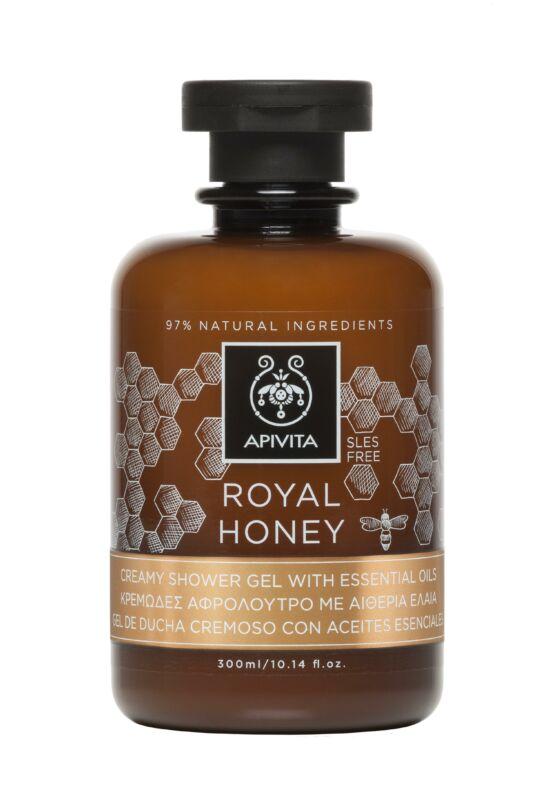 APIVITA Tusfürdő száraz bőrre - Royal Honey 300 ml