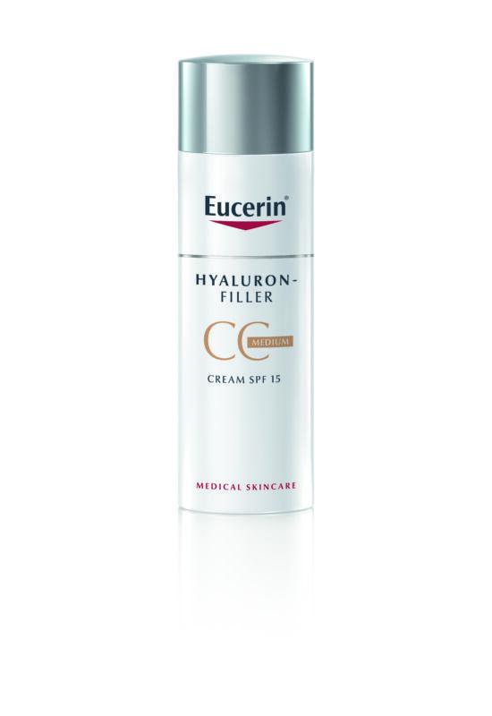 Eucerin Hyaluron-Filler Ráncfeltöltő színezett nappali CC krém medium árnyalat 50 ml