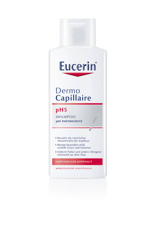 Eucerin DermoCapillaire pH5 Kímélő sampon 250 ml