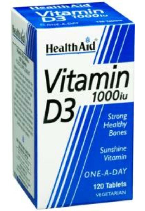 HealthAid D3 vitamin 1000iu 4 havi kiszerelés 120 db