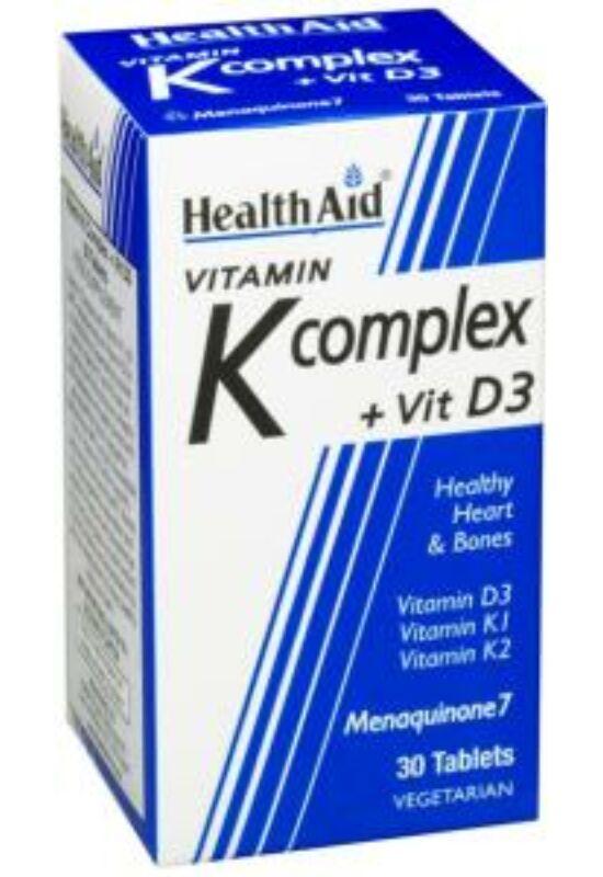 HealthAid K vitamin komplex + D3 vitaminnal 30 db