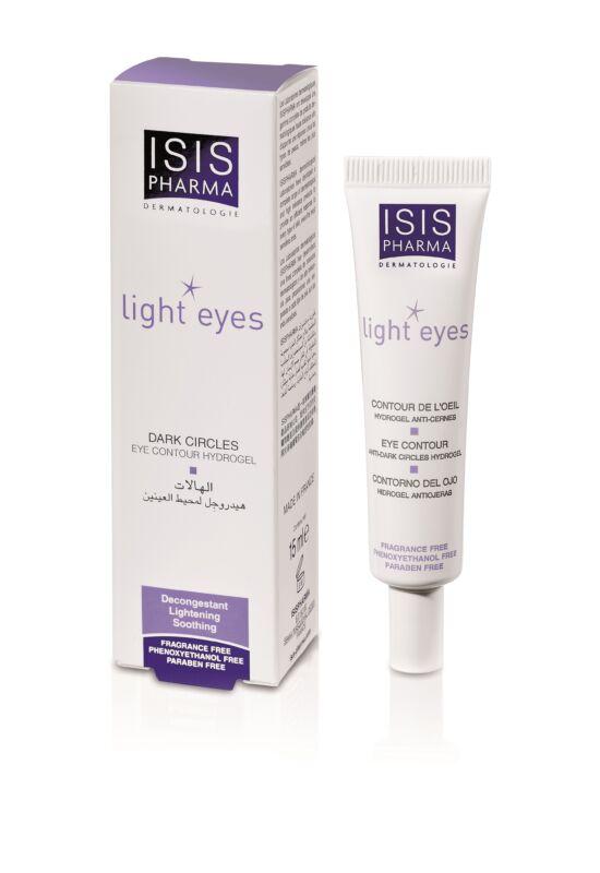 Isispharma Light Eyes ápoló hidrogél a szem körüli sötét karikák eltüntetésére 15ml exp.: 04/22