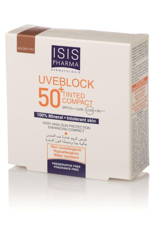 Isispharma Uveblock SPF50+ Kompakt púder sötét árnyalat 10g