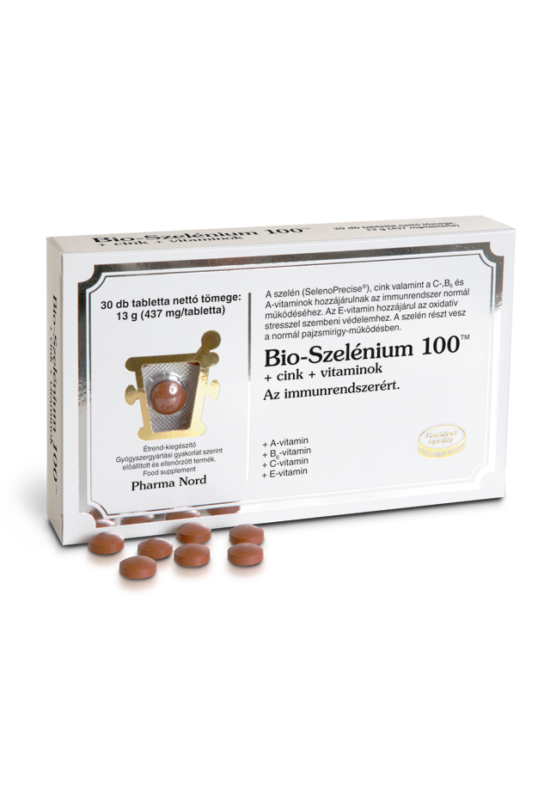 Pharma Nord Bio-Szelénium 100TM+cink+vitaminok tabletta 30X
