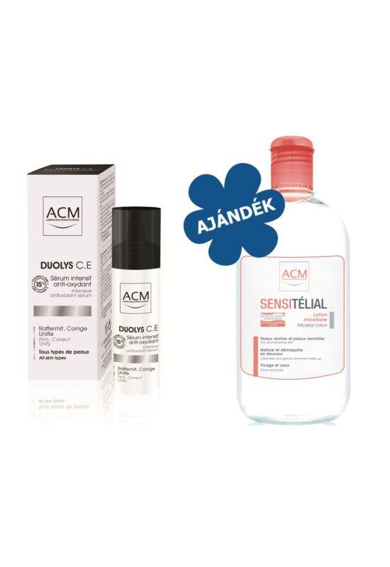 ACM Duolys C.E. Intenzív Bőrmegújító Anti-oxidáns szérum 15ml + AJÁNDÉK ACM Sensitélial H2O micellás arclemosó 250ml